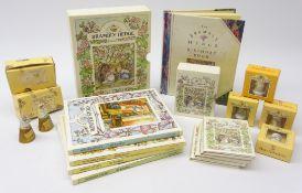 Brambly Hedge - two Enesco thimbles: Winter & Autumn, four Royal Doulton thimbles,