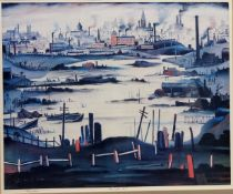 After Laurence Stephen Lowry RA (Northern British 1887-1976): 'The Lake',
