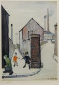After Laurence Stephen Lowry RA (Northern British 1887-1976): 'The Viaduct Street Passage',