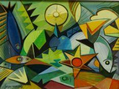 Nildo Martins (Brazilian 1948-): Frutos do Mar,