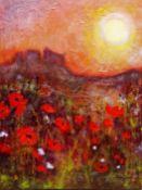 Ann Lamb (British 1955-): 'Poppies in Provence',
