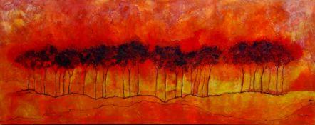 Ann Lamb (British 1955-): Tree Line,