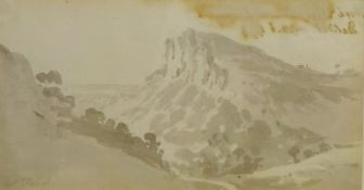 Nicholas Pocock (British 1741-1821):'The High Torr from the Hagwood, Matlock',