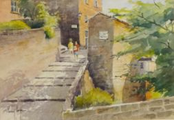 Percy Hope (British 20th century): 'The Old Bakery Tea Rooms, Robin Hoods Bay,