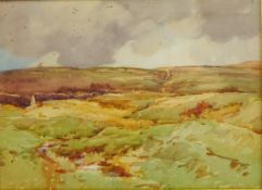 Fred Lawson (British 1888-1968): On the Edge of the Moor,