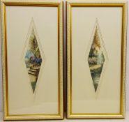 Jean Joseph Chabridon (French 20th century): 'Le Pont Fleure' & 'Entree du Manoir',