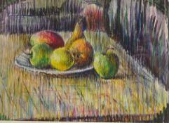 Derrick L Sayer (British 1917-1992): Still Life - Fruit on a Table,