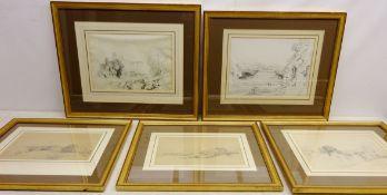 Henry Harry Lines (British 1800-1889): 'Richmond', 'Ingleton - Ingleborough',