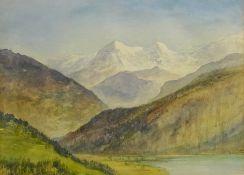 Alfred Young Nutt (British 1847-1924): 'Lake Thun Switzerland',