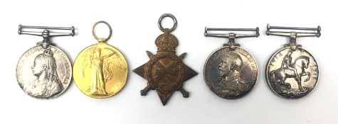 Group of five Naval medals comprising China 1900 to A E Doidge. A.B. H.M.S.Undaunted, Geo V.