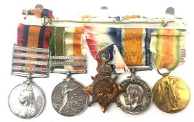 Queens & Kings South Africa to WW1 medal group with Wittebergen, Transval, Modder River,