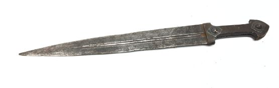 Russian Kindjal, 34cm double edged blade with offset central fuller,