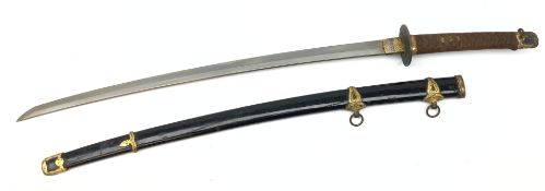 WWII Japanese Naval Kai Gunto sword,