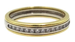 18ct gold channel set diamond half eternity ring stamped 750 Condition Report 3.