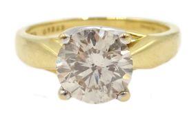 18ct gold single stone diamond ring hallmarked, diamond 1.