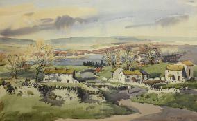 Angus Rands (British 1922-1985): Yorkshire Dales Landscape,
