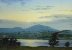 Jim Ridout (British 1946-): 'Little Mell Fell from Gale Bay, Ullswater', watercolour signed,