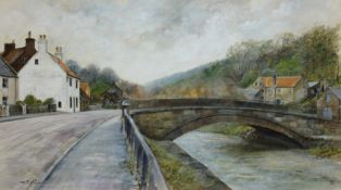 David Biglands (Northern British late 20th century): Sandsend,