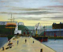 Robert Sheader (British 20th century): On Scarborough Pier,