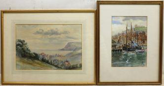 English School (Early 20th century): Robin Hoods Bay looking towards Ravenscar,