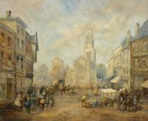 M J Rendell (20th century): Market Place,