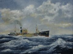 William 'Bill' Wedgwood (British c1934-2019): Portrait of a Whitby Trawler, oil on canvas signed,