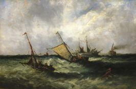 English School (19th century): Shipping in Choppy Seas,