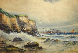 Austin Smith (British early 20th century): Scarborough from Cornelian Bay,