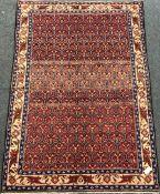Shiraz Kilim beige ground rug, patterned stripes, 240cm x 107cm