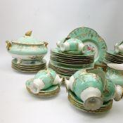 Royal Crown Derby bone china Vine pattern dinner and tea wares, comprising eleven dinner plates, twe
