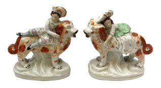 Pair of Victorian Staffordshire figures, modelled as two children, probably Queen Victoria's childre