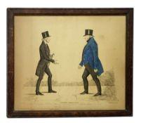 Benjamin William Crombie (British 1803-1847): 'Modern Athenians', portraits of Reverend William Muir