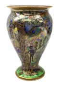 Wedgwood Fairyland Lustre vase, designed by Daisy Makeig Jones, of baluster form decorated with the