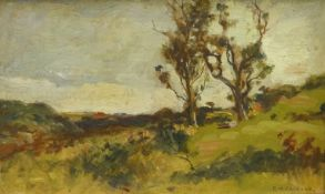 Frederic William Jackson (Staithes Group 1859-1918): Trees in Landscape, oil on board signed