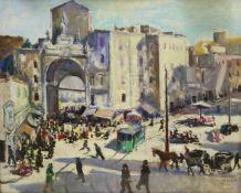 Dino Martens (Italian 1894-1970): 'Porta Capuana Napoli', oil on panel signed, titled verso 37cm x 4