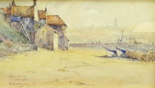W Guymer (British exh.1921): 'East Cliff Whitby', watercolour signed and titled 13cm x 23cm Notes: