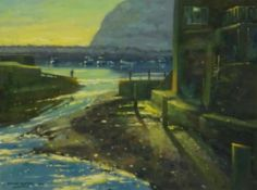 Chris Slater (British Contemporary): 'Early Morning Staithes', oil on board signed and dated '04, ti