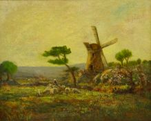 John Bowman (Staithes Group 1872-?): Ugthorpe Mill near Whitby, oil on canvas signed and dated 1901,