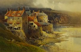 Arthur Tucker R.B.A. (British 1864-1929): Robin Hoods Bay, watercolour signed 34cm x 52cm