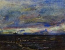 Rowland Henry Hill (Staithes Group 1873-1952): Moorland Cross Roads above Lealholm, watercolour sign