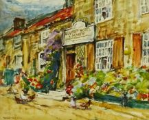 Rowland Henry Hill (Staithes Group 1873-1952): 'The Ellerby Hotel', watercolour signed 18cm x 22cm