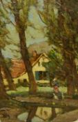 William (Fred) Frederick Mayor (Staithes Group 1866-1916): Rural Cottages Montreuil