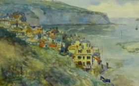 James Ulric Walmsley (British 1860-1954): Robin Hood's Bay, watercolour signed and dated 1905, 14.5c