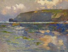 Campbell Archibald Mellon (British 1876-1955): 'Off Cromer', oil on board signed with initials by a