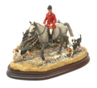 A limited edition Border Fine Arts figure group, Boxing Day Meet, Grey, model no B0876A by Anne Wall