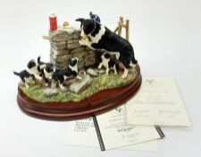 A limited edition Border Fine Arts figure group, Collies' Picnic, model no B1090, by Anne Wall, 173/