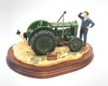 A Border Fine Arts figure group, Won't Start, model no B0299 by Ray Ayres, on wooden base, figure L2