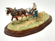 A limited edition Border Fine Arts figure group, Rowing Up, model no B0598 by Ray Ayres, 382/950, on