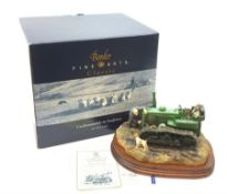 A Border Fine Arts figure, Starts First Time, model no B0702 by Ray Ayres, on wooden base with accom