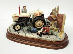 A Border Fine Arts figure group, Like Father Like Son, model no B0859 by Ray Ayres, on wooden base,